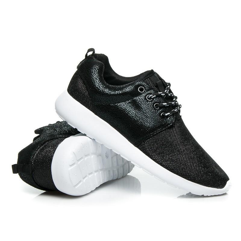 5ce34b8706533 Predchádzajúci. Čierna dámska športová obuv s hrubou podrážkou ...