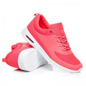 Dámske topánky na voľný čas ružovej farby