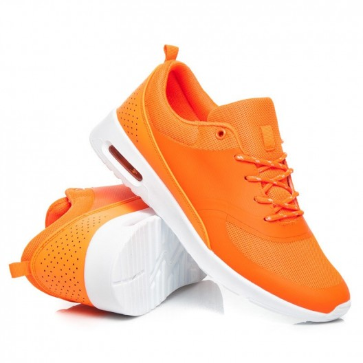Dámska športová obuv oranžovej farby