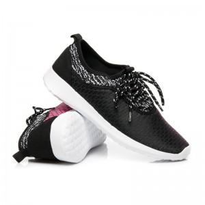 Športová obuv pre dámy čierno ružovej farby