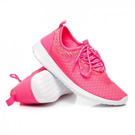 Športové tenisky pre dámy neonovo ružovej farby