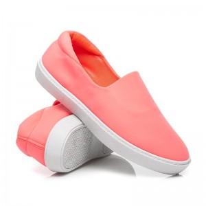 Dámske topánky na voľný čas oranžovej farby