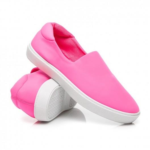 Slip on dámske tenisky ružovej farby
