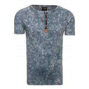 Sivé štýlové pánske tričko