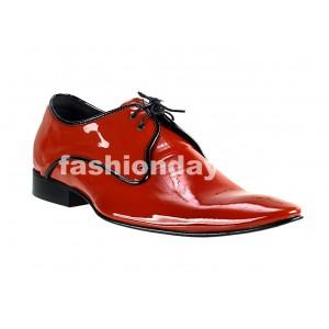 VEĽKOSŤ 39 Pánske kožené extravagantné topánky červené