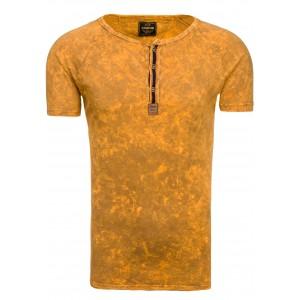 Moderné pánske tričká v žltej farbe