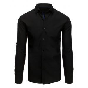 Pánska štýlova košeľa s dlhým rukávom v čiernej farbe