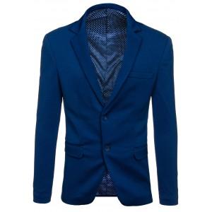 Pánske sako tmavo modrej farby