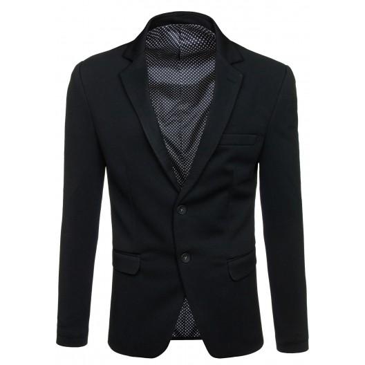 Pánske elegantné sako čiernej farby