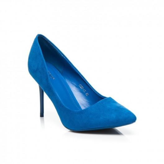 Dámske semišové lodičky kráľovsky modrej farby