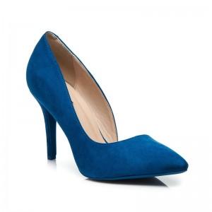 Dámske lodičky modrej farby semišové