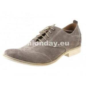 Pánske kožené topánky šedé