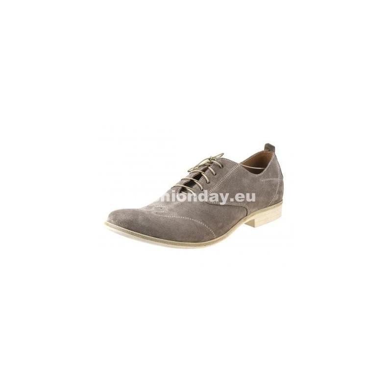 Pánske kožené topánky šedé - fashionday.eu 3c4576a9748