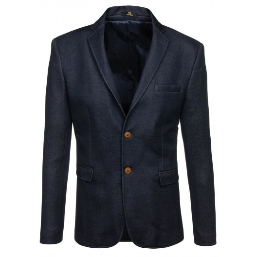 Pánske elegantné sako granátovej farby s hnedými gombíkmi