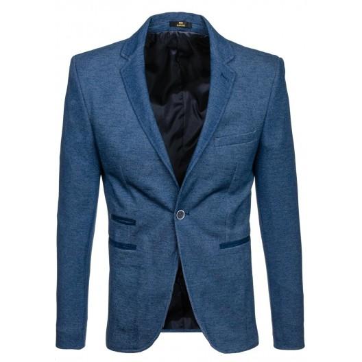 Svetlo modré pánske sako s ukrytými vreckami
