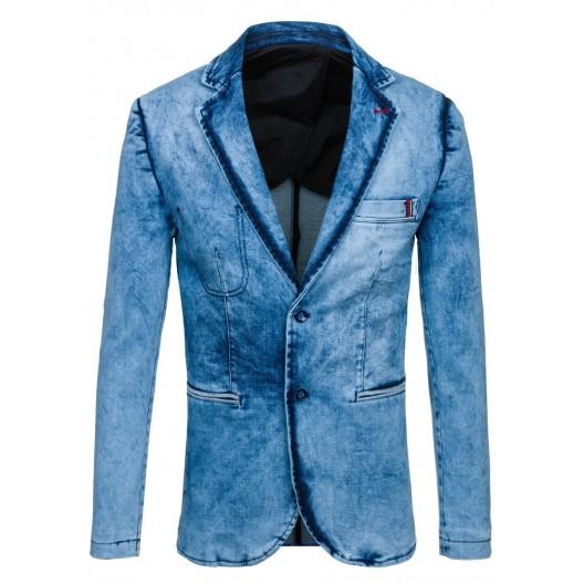 Svetlo modré pánske slim fit sako