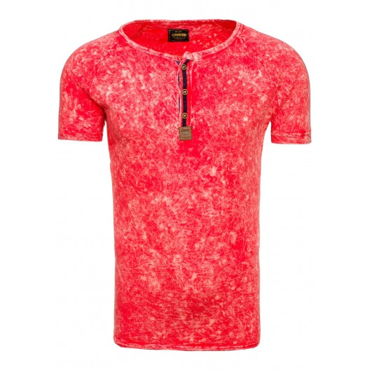 Štýlové pánske tričko v ružovej farbe