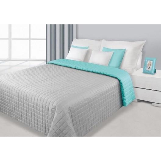 Strieborno mätový obojstranný prehoz na posteľ