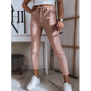 Krásne dámske rúžové nohavice