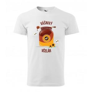 BIELE 3XL Pánske bavlnené tričko pre každého včelára