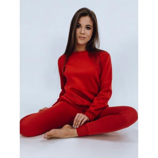 Moderná dámska červená tepláková súprava z kolekcie FIT
