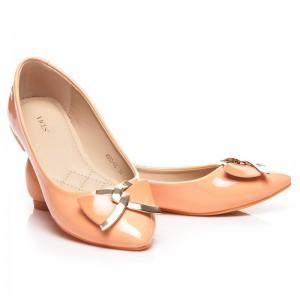Elegantné oranžové dámske balerínky