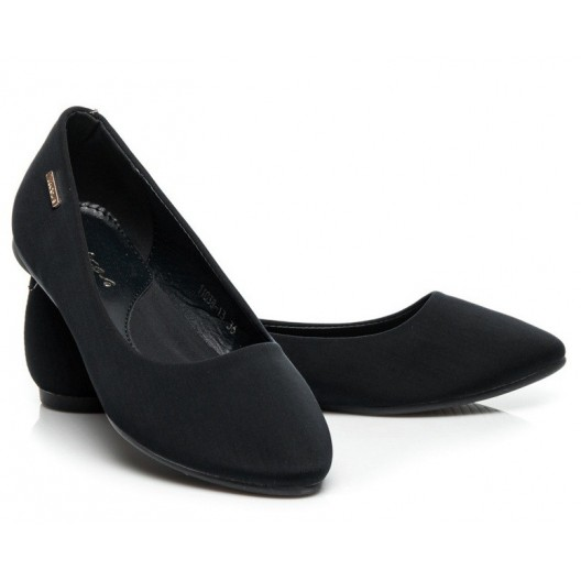 Moderné dámske balerínky v čiernej farbe