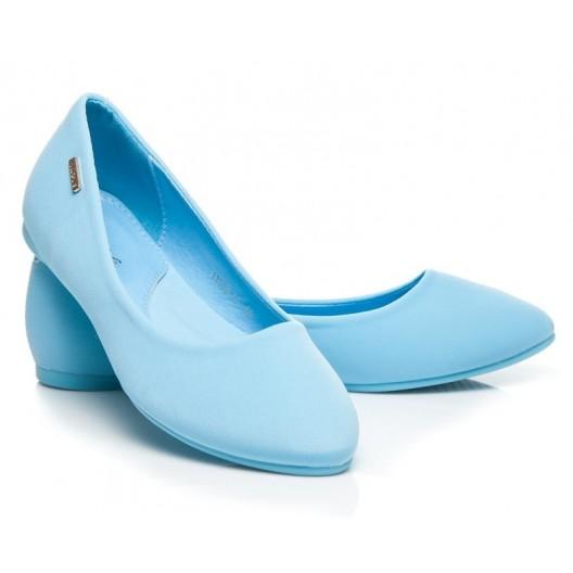 Nebesky modré dámske balerínky