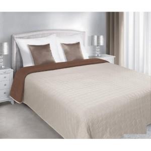 Prehozy na postele béžovo hnedej farby