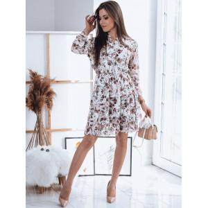 Dámske biele vintage romantické šaty s volánovou sukňou