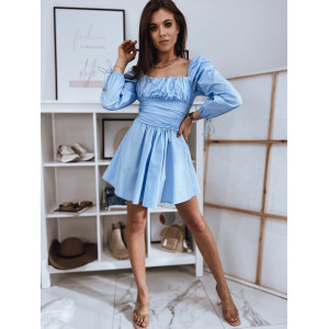 Svetlo modré dámske letné mini šaty hispánky