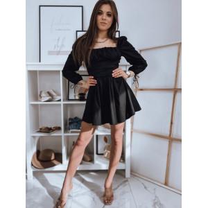 Krásne dámske čierne šaty áčkového strihu model HISPAN