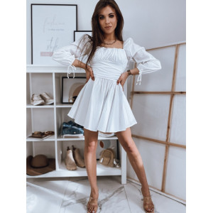 Krásne biele šaty hispánky áčkového strihu
