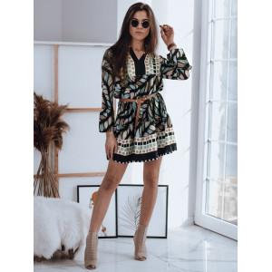 Krásne mini oversize vzorované šaty v etno štýle