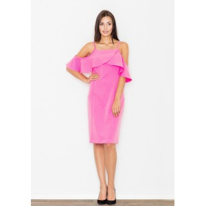 Koktejlové dámske šaty ružovej farby