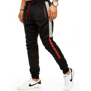 Pohodlné pánske čierne tepláky v štýle jogger