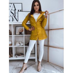 Krásna žltá obojstranná prešívaná dámska bunda