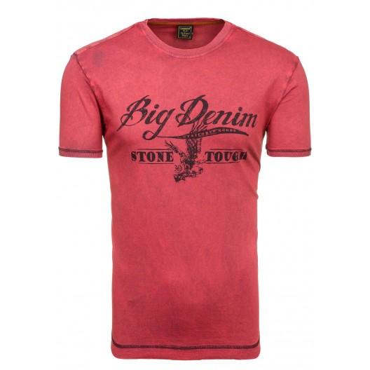 Tričko pre mužov červenej farby Big Denim