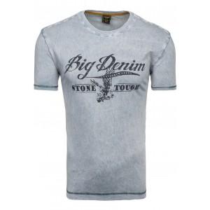 Big Denim pánske tričko sivej farby