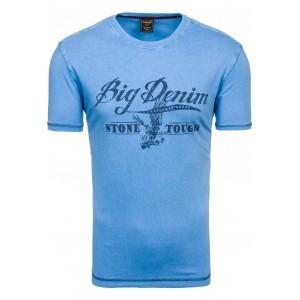 Pánske tričko krátky rukáv modrej farby