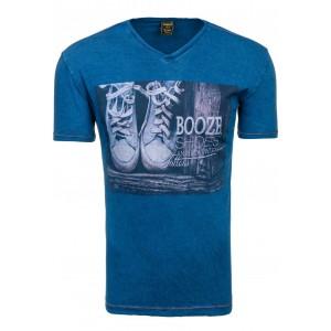 Tričko s krátkym rukávom tmavo modrej farby