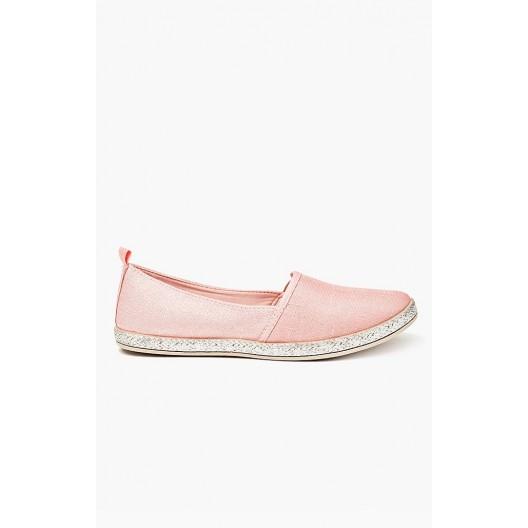 Dámske espadrilky ružovej farby s pletenou podrážkou