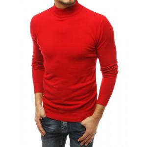 Krásny pánsky sveter cez hlavu v červenej farbe