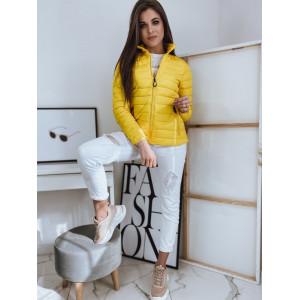 Krásna dámska prechodná bunda v žltej farbe