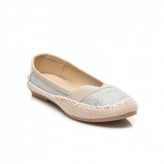 Jednoduchá dámska obuv sivé espadrilky