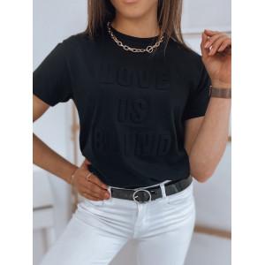 Pohodlné bavlnené tričko v čiernej farbe