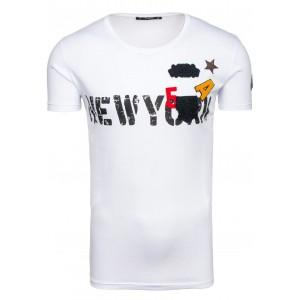 New York pánske tričko v bielej farbe