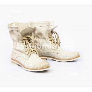 Dámske kožené topánky béžové DT003