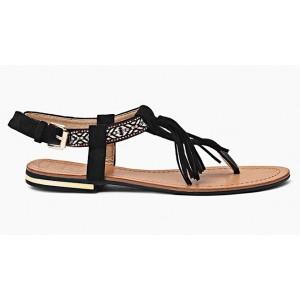 b894abdf4602 Štýlové dámske sandále v čiernej farbe s tenkou podrážkou