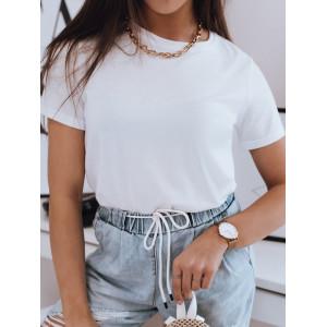 Dámske biele kvalitné tričko s krátkym rukávom